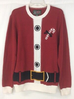UGLY CHRISTMAS SWEATER Santa Suit Mens Size Medium - Ugly Sweater Suit