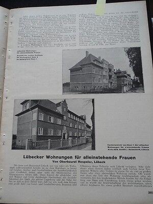 1927 Lübeck Wohnungen für alleinstehende Frauen