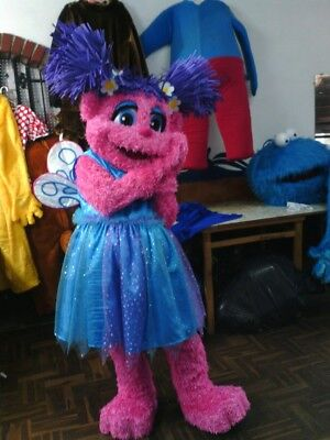 Abby Caddaby Mascot Costume Sesame Street Party Character Birthday Halloween (Sesame Street Abby Halloween Costumes)