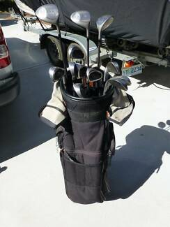 Golf clubs, bag and buggy - Power Bilt. In great condition