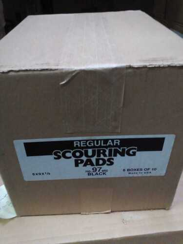 Regular Black Scouring and Scrubbing Pad (case of 60)