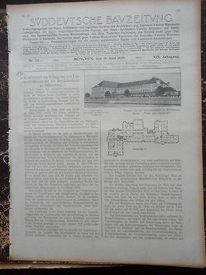 1909  Sdt. Bauzeitung 25 / Miltenberg Invalidenheim