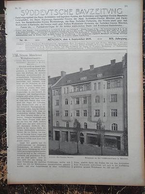 1909  Sdt. Bauzeitung 36 / München Lindwurmstraßen Georgenstraße Heidelberg