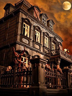 Playmobil Haunted Halloween Victorian Gothic Mansion 5300 custom house 120 pcs - Victorian Gothic Halloween