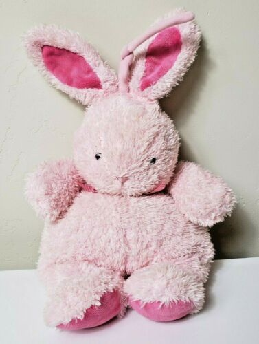 Carters Child Of Mine Musical Pink Bow Bunny Rabbit Crib Plush Toy Lovey HTF