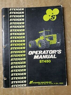 Steiger Tractor Operators Manual St450 37-062 1j-3107-m2