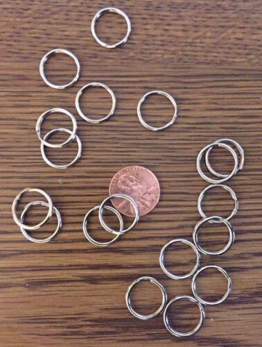 """100 Wholesale Nickel Plated Split rings Pet ID tags 5/8"""" 16mm"""