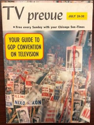 Tv Prevue Chicago Sun Times Digest July 24 1960 Nixon Gop Convention Coverage