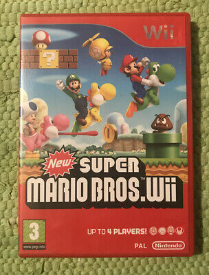 New Super Mario Bros Nintendo Wii Boxed Complete PAL UK