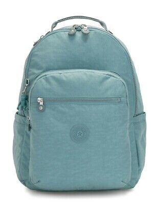 Kipling SEOUL Large Backpack with Laptop Compartment - Aqua Frost