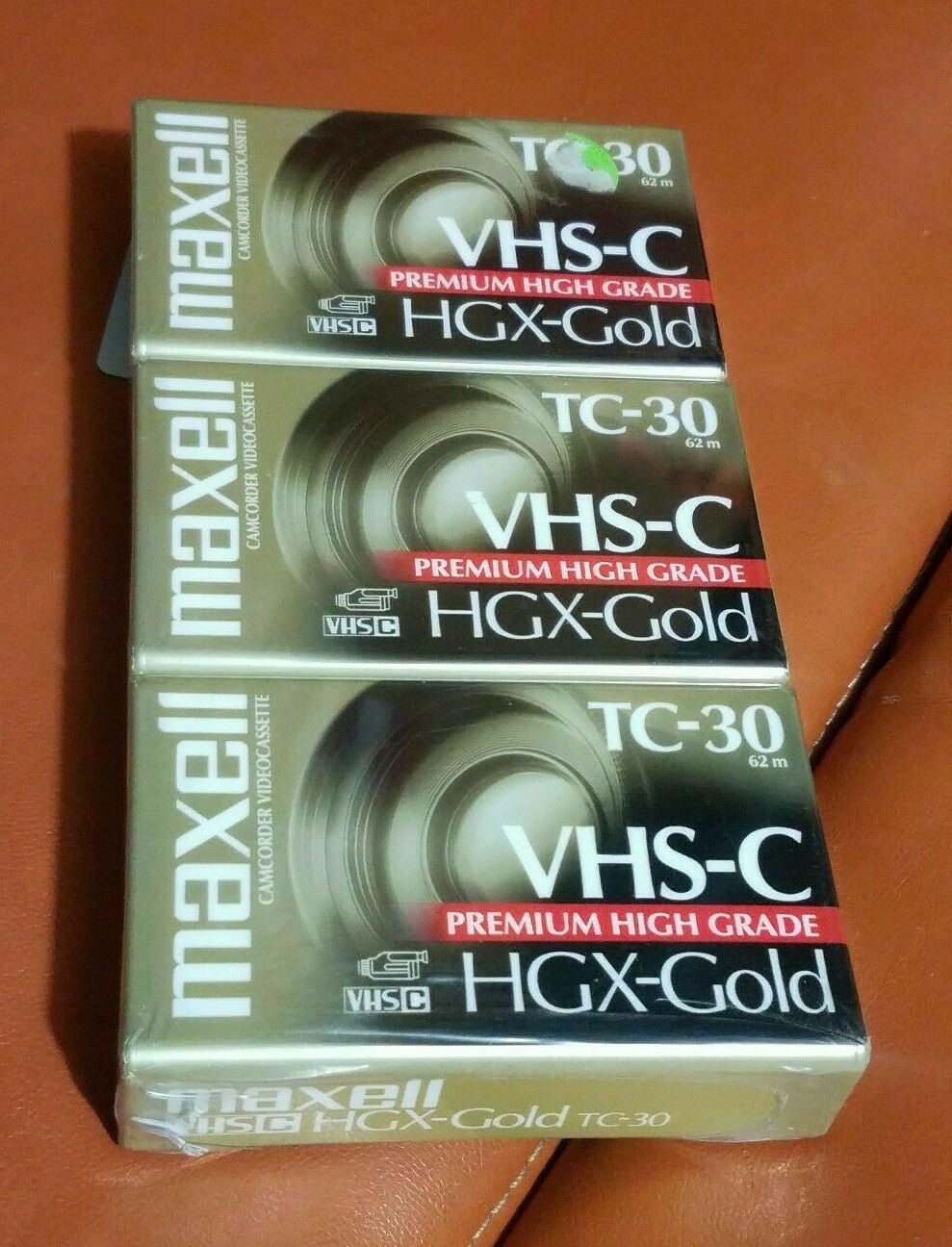 Maxwell VHS-C HGX-Gold 3 Pack Tapes New Sealed As Seen TC-30 Camcorder Premium  - $12.98