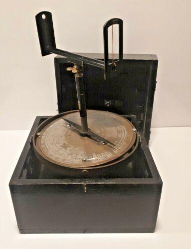 Antique Fields Reversible Pelorus & Compass Corrector in Original Case Nautical