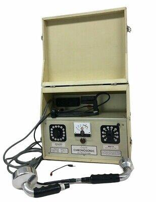 Vintage Lindquist Chronosonic Ultrasound Model 401 B C Therapy Machine 8619