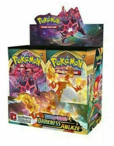Pokemon Darkness Ablaze Booster Box - Sword and Shield - 36 packs - Brand New!