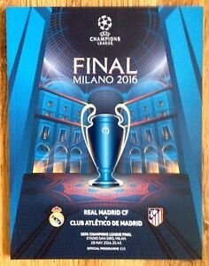 CHAMPIONS LEAGUE FINAL PROGRAMME 2016 *BRAND NEW* REAL MADRID v ATLETICO MADRID