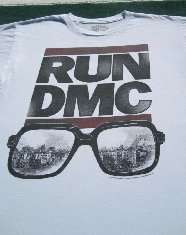 RUN DMC classic glasses logo XL T-SHIRT