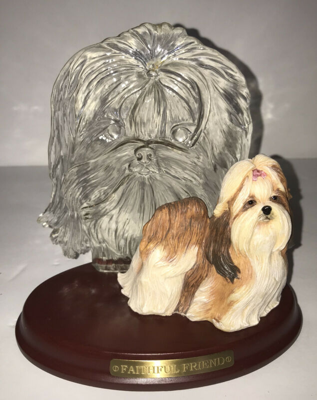Shih Tzu ....Faithful Friend Dog Figure Bradford Exchange Limited Edition 2003