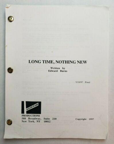 NO LOOKING BACK / Edward Burns 1997 Screenplay, LAUREN HOLLY & JON BON JOVI