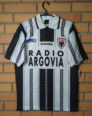 Aarau Home football shirt 1996-1997 autograph of players M jersey soccer Diadora image