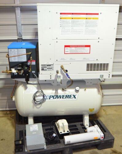 Powerex SES130862 Enclosed Scroll Compressor 3HP, 60 Gal Tank, Refrig Air Dryer