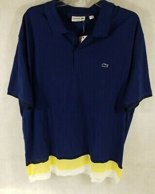 Lacoste Big Men's Polo Size 4XL Slim Fit Navy Blue