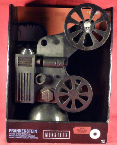 Universal Monsters Frankenstein Moving Lighted Spooky Projector New in box