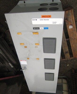 800 Amp 600 Vac Cutler-hammer Manual Molded-case Transfer Switch