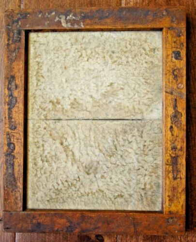 "Vtg Antique Darkroom Wood Printing Frame Opening = 6.25""x8.25"""