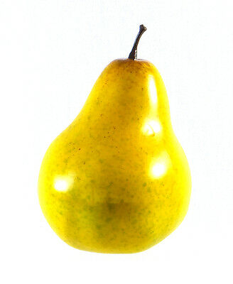 Artificial Pear Yellow Large - Plastic Decorative Fruit Pears Fake