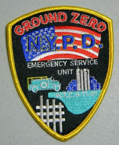 9/11 GROUND ZERO NYPD EMERGENCY SERVICE UNIT PATCH 20TH MEMORIAL ANNIVERSARY NEW