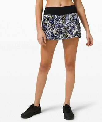 NEW LULULEMON Pace Rival Skirt REG 2 4 6 8 10 Floral Metropolis Black FREE SHIP