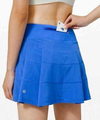 NEW LULULEMON Pace Rival Skirt 4 6 8 10 12 14 TALL Wild Bluebell FREE SHIP