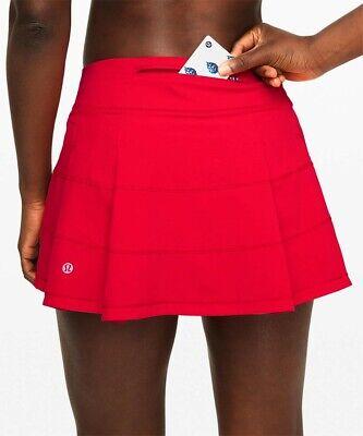 NEW LULULEMON Pace Rival Skirt REG 2 4 6 8 Dark Red Run FREE SHIP