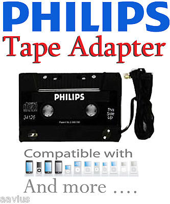Philips Best Cassette Tape Adapter for iPhone 4 4G S 3G 4S Sprint Verizon