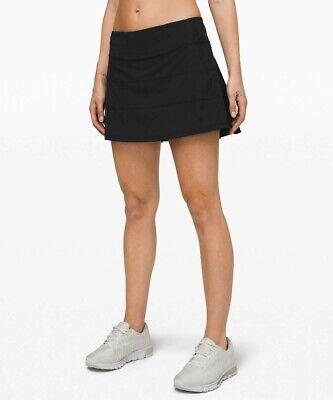 NEW LULULEMON Pace Rival Skirt 14 TALL Black Run Gym Train FREE SHIP