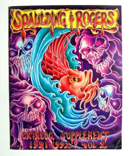 1991-92 Spaulding & Rogers Tattoo Catalog Supplement Guide Flash Vol 2 Naydam