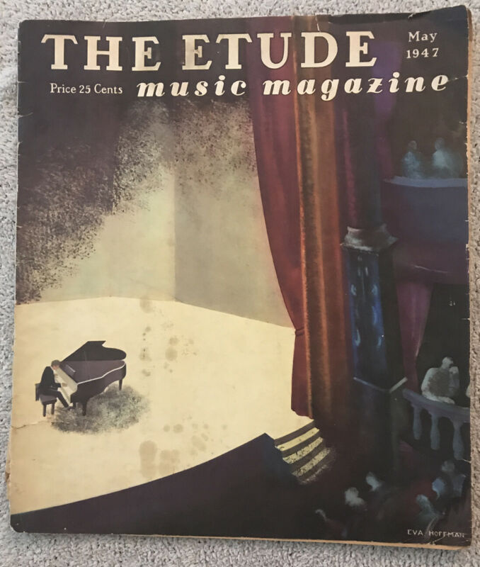 Vintage Phantom Of Opera THE ETUDE Magazine Sheet Music In Issue MAY 1947