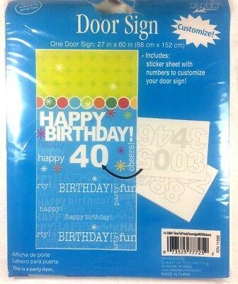 HAPPY BIRTHDAY DECORATIVE DOOR SIGN Customize Hanging Wall/Door Decorations 1-1B (Custom Birthday Signs)