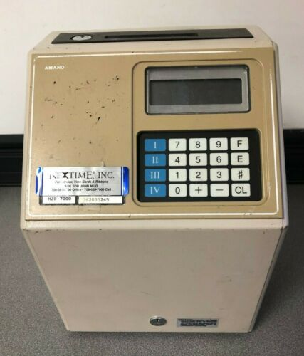 Amano Microder MJR-7000 Digital Computerized Employee Time Card Punch Clock