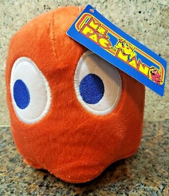 NEW Ms Pac-Man Red Ghost Blinky Plush Toy Stuffed Doll Figure Pacman Arcade Game
