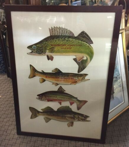 4 Winchester Fishing Lures Sold Here Diecut Advertisements