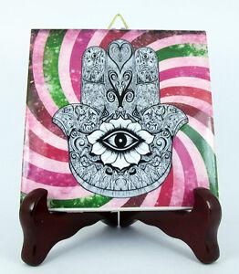 Hand of Fatima Hamsa Khamsa Ceramic Tile Evil Eye Protection Judaism Islam M2 X - Italia - Hand of Fatima Hamsa Khamsa Ceramic Tile Evil Eye Protection Judaism Islam M2 X - Italia