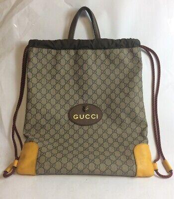 GUCCI GG Supreme Neo Vintage drawstring backpack.