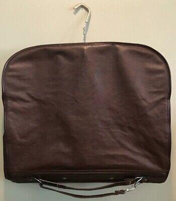 Vintage Estate Samsonite Hanging Garment Suit Soft Bag Brown 1970s Large