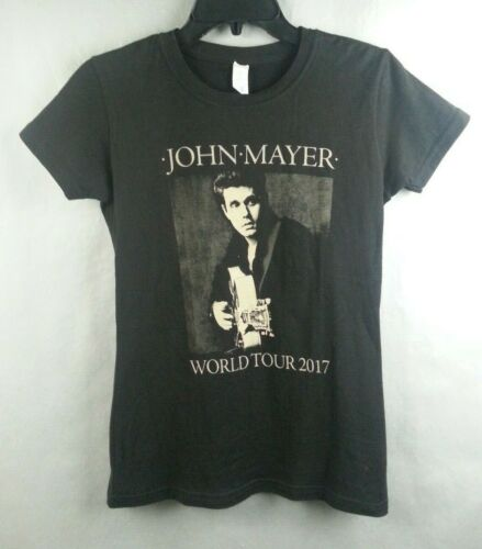 NWT John Mayer 2017 Concert World Tour T-Shirt Juniors Sized Small S
