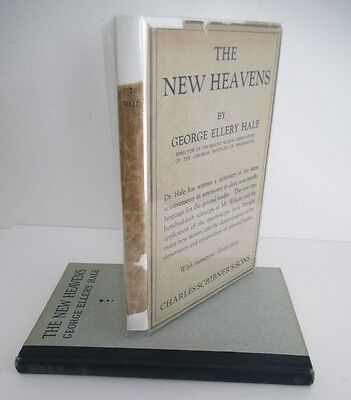 The New Heavens By George Ellery Hale  1922 1St Ed In Dj  Astronomy