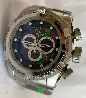 Invicta Reserve Bolt Zeus Chronograph Watch W/ Red & Green Racing Strap 26470