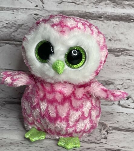 """Ty Beanie Boos Owl Bubbly Pink 6"""" NO SWING TAG"""