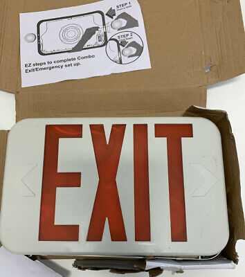 Ciata Lighting Led 2-sided Exit Sign Emergency Light Battery Backup Hanging Ne