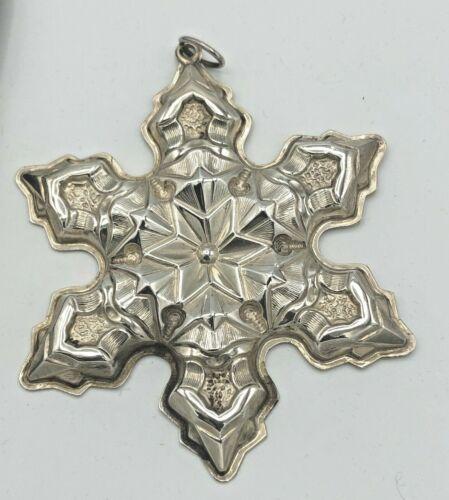 Gorham Sterling Silver 1975 Annual Snowflake Ornament, no box